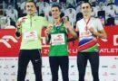 Adam Czerwiński na podium Mistrzostw Polski